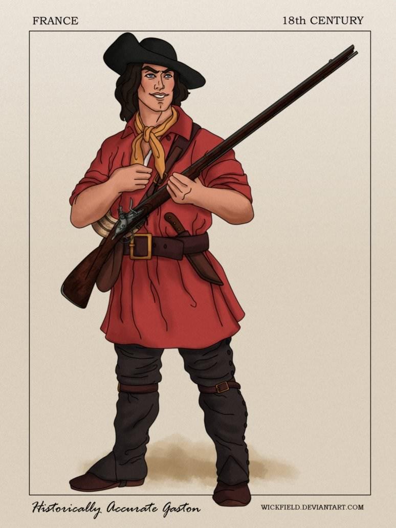 Cartoon - 18th CENTURY FRANCE Historically accmate Gaston WICKFIELD.DEVIANTART.COM