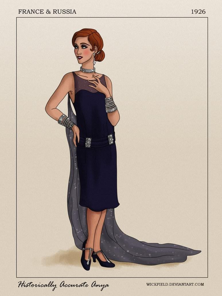 Clothing - 1926 FRANCE & RUSSIA Historically aocmate anya WICKFIELD.DEVIANTART.COM