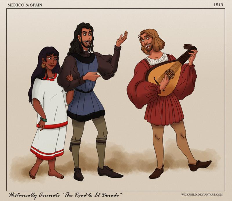 "Cartoon - 1519 MEXICO & SPAIN Historically accmrate ""The Roadto El Dorado"" WICKFIELD.DEVIANTART.COM"