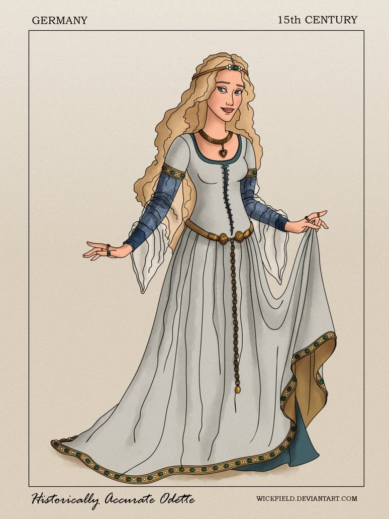 Costume design - GERMANY 15th CENTURY ন Historically acomate Odette WICKFIELD.DEVIANTART.COM
