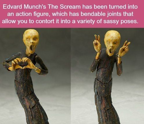 Sculpture - Edvard Munch's The Scream has been turned into an action figure, which has bendable joints that allow you to contort it into a variety of sassy poses.