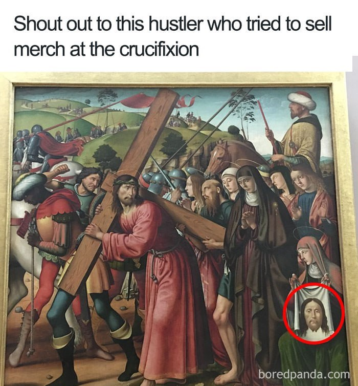 History - Shout out to this hustler who tried to sell merch at the crucifixion boredpanda.com
