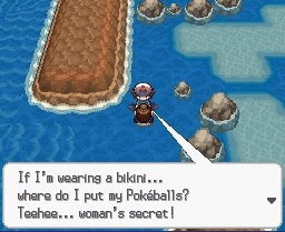 Games - If I'm uearing a bikini... where do I put my Pakáéballs? Teehee... woman's secretl