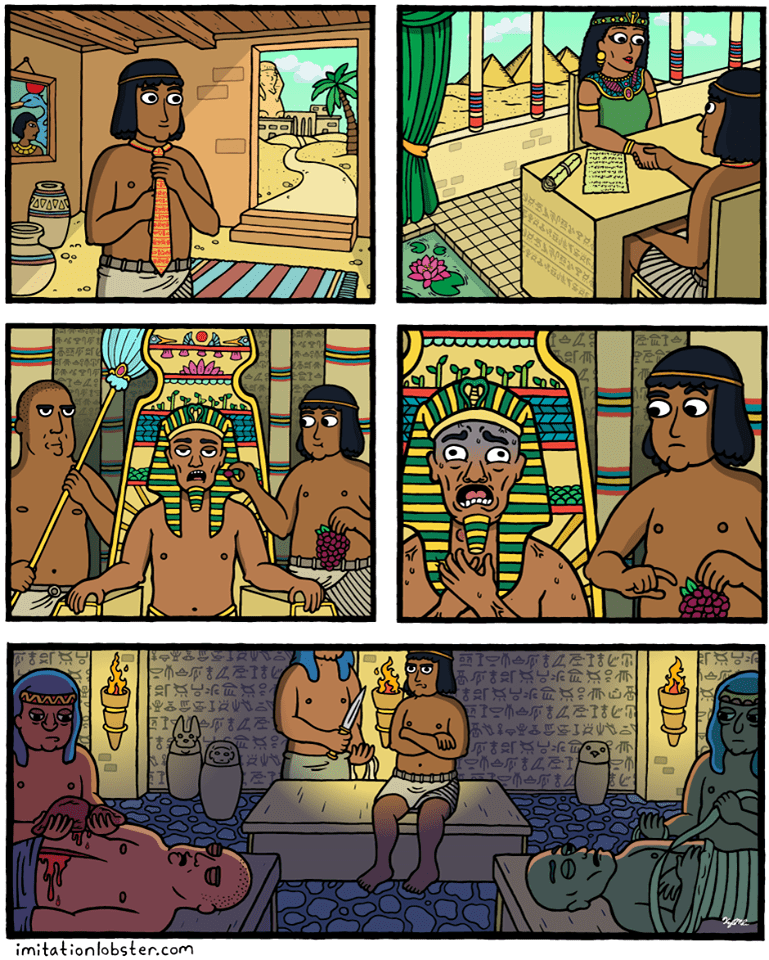 entrevista de trabajo en el antiguo egipto