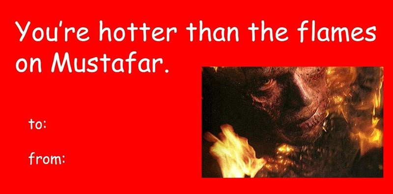 Text - You're hotter than the flames on Mustafar. to: from: