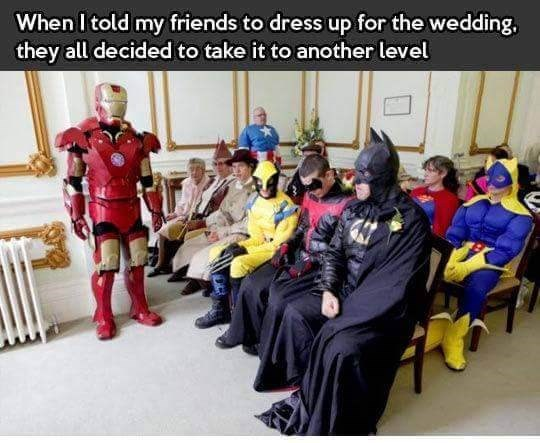 Youth - When I told my friends to dress up for the wedding they all decided to take it to another level