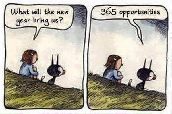 Cartoon - 365 opportunities What will the new year bring us?