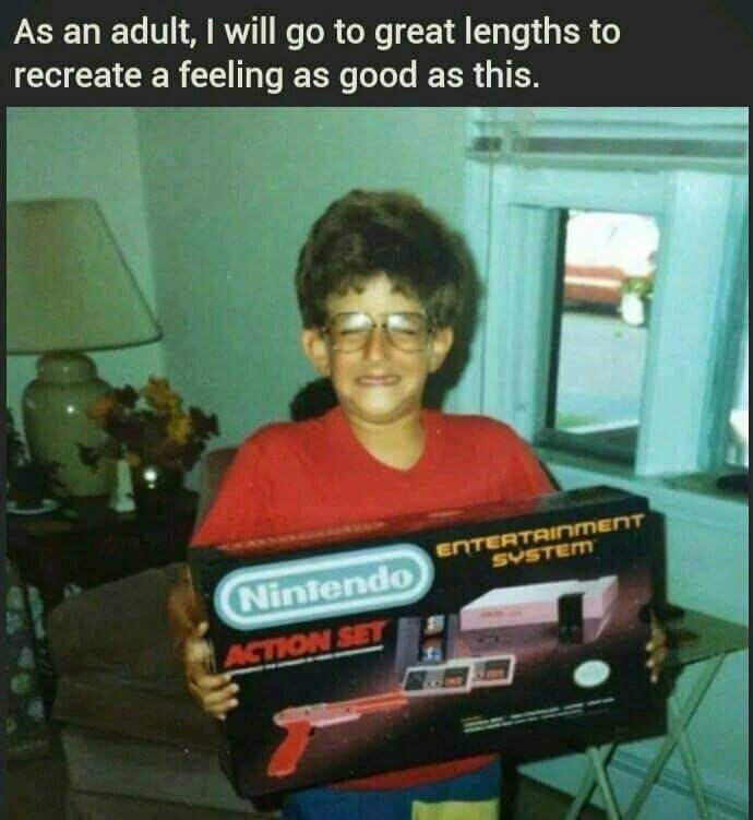 Games - As an adult, I will go to great lengths to recreate a feeling as good as this. ENTERTAINMENT SVSTEM Nintendo ACTION SET