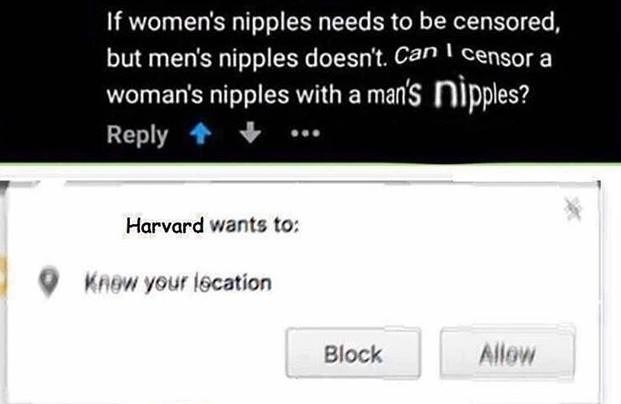 Funny meme about Harvard.