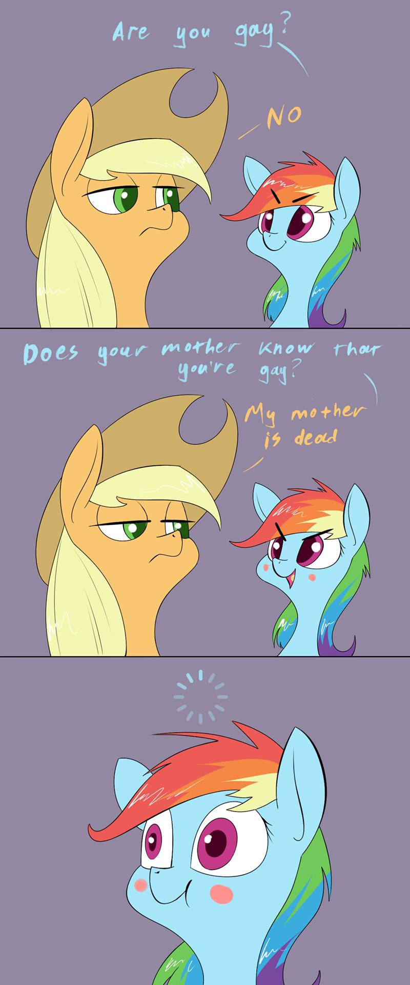 applejack underpable comic rainbow dash - 9127610368