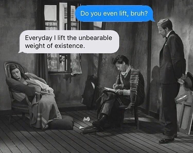 Funny meme about lifting.