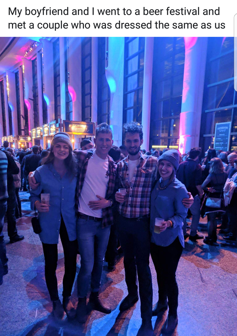 Event - My boyfriend and I went to a beer festival and met a couple who was dressed the same as us BORTER/S