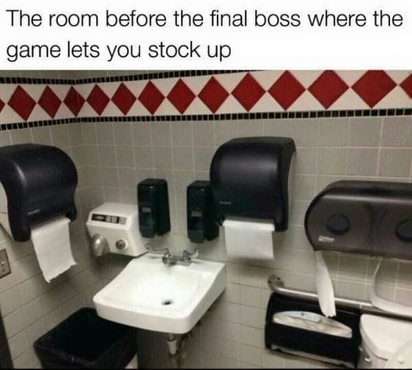 the room before you are going to encounter the final boss