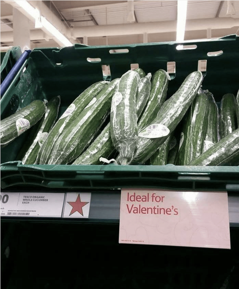 Automotive exterior - Ideal for Valentine's TESCO ORGANIC WHOLE CUCUMBER EACH A INW