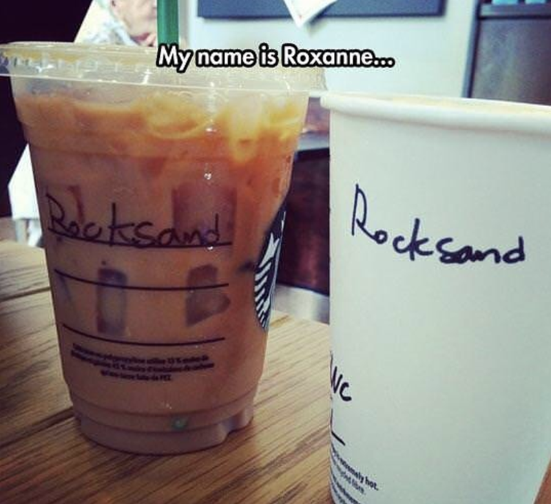 Drink - Myname is Roxanne. Rocksand Bleksaud ly hot