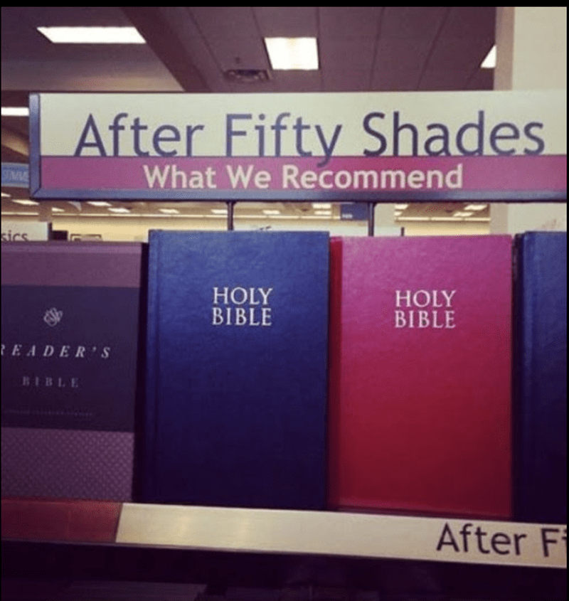 Text - After Fifty Shades What We Recommend sics HOLY BIBLE HOLY BIBLE EADER'S RIBLE After F