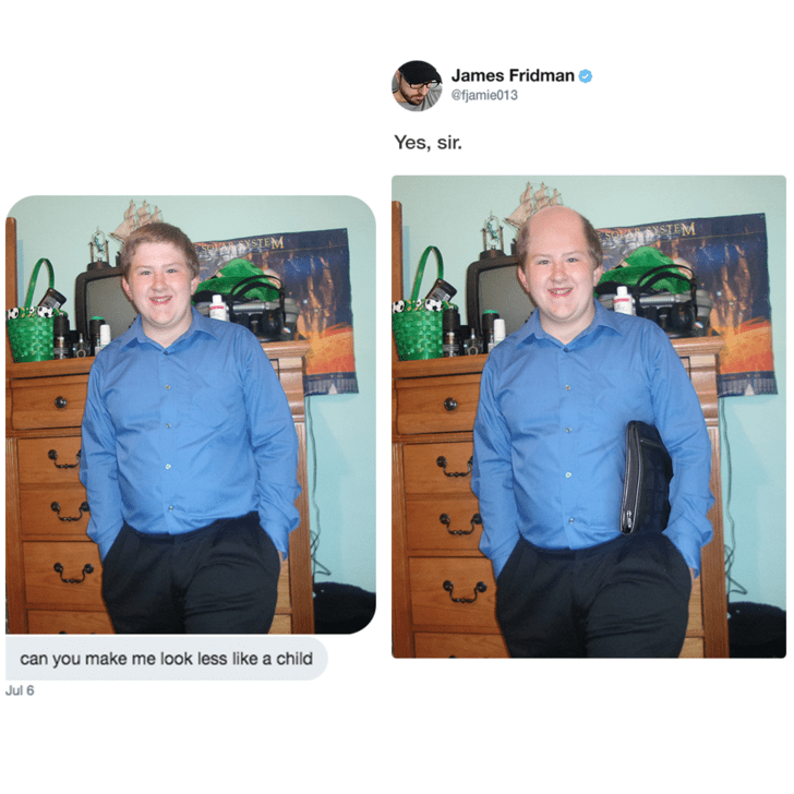 Outerwear - James Fridman @fjamie013 Yes, sir. YM STEM can you make me look less like a child Jul 6