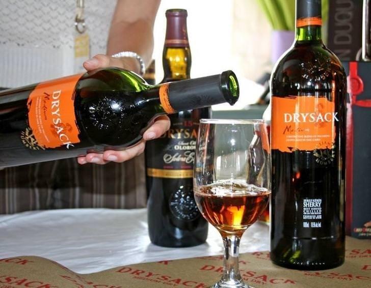 Alcoholic beverage - DRYSACK RYSA OLO O SHERRY DA DRYSAC SACK M DRY SACK nona DRYSACK