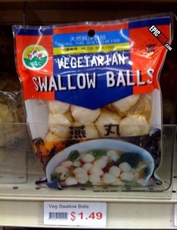 Food - IN FOOD F00 URAL PURE VE WEGETARIAN SWALLOW BALLS Veg Swallow Balls $1.49 EPIC FAIL.cOM