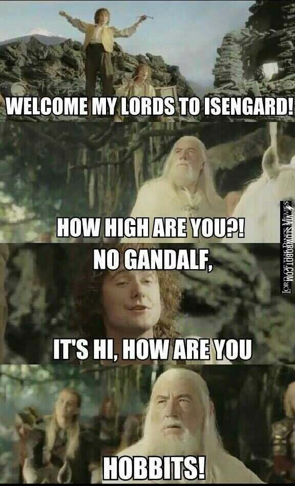 Adaptation - WELCOME MY LORDS TO ISENGARD! HOW HIGH ARE YOU?! NO GANDALF, IT'S HI, HOW ARE YOU HOBBITS! SaNs SURWROBOT.COMc