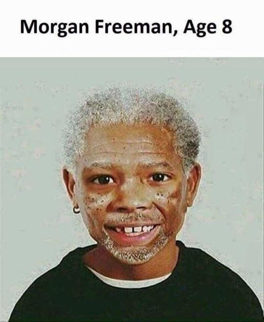 Face - Morgan Freeman, Age 8