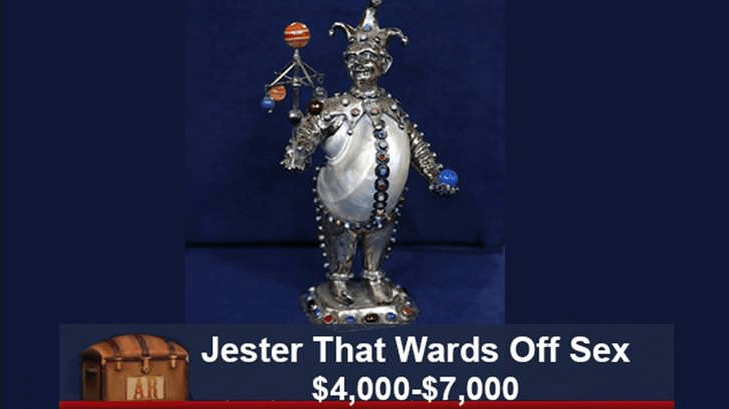 funny caption - Joint - Jester That Wards Off Sex $4,000-$7,000 AR