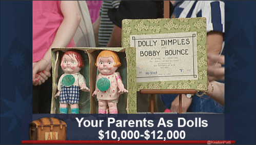 funny caption - Text - DOLLY DIMPLES BOBBY BOUNCE am t Your Parents As Dolls $10,000-$12,000 AR @KealbnPats