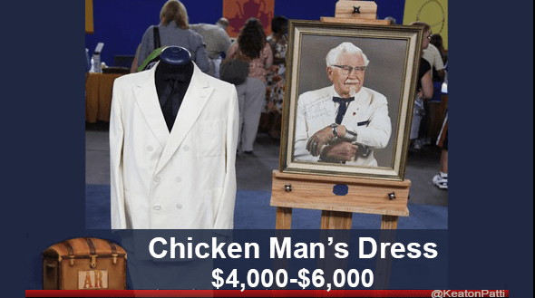 funny caption - Pope - Chicken Man's Dress $4,000-$6,000 AR @KeatonPatti