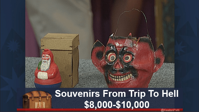 funny caption - Head - Souvenirs From Trip To Hell $8,000-$10,000 @KeatonPatti