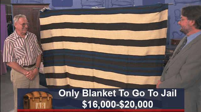 funny caption - Flag - Only Blanket To Go To Jail $16,000-$20,000 AR