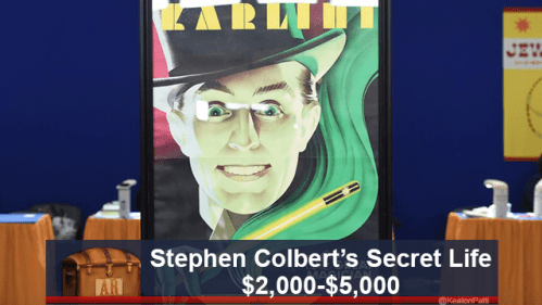 funny caption - Poster - JEV Stephen Colbert's Secret Life $2,000-$5,000 AR @KeatonPat