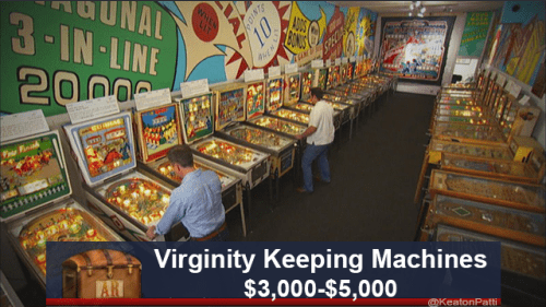 funny caption - Games - UNAL 3-IN LINE 2000 veer Virginity Keeping Machines $3,000-$5,000 AR @KeatonPatti DINT 10