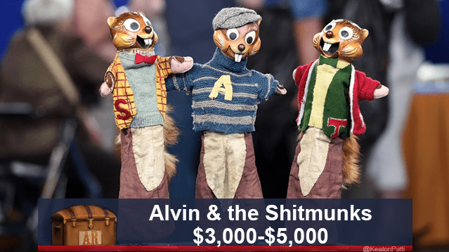 funny caption - Animated cartoon - A Alvin & the Shitmunks $3,000-$5,000 AR @KeatonPatti
