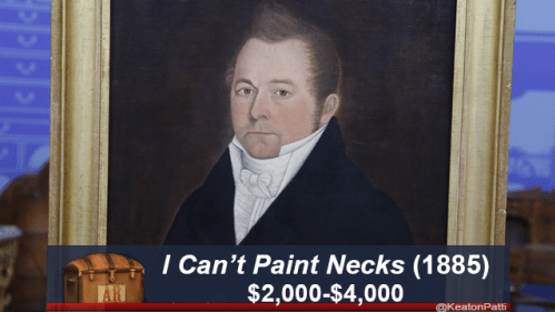 funny caption - Portrait - ICan't Paint Necks (1885) $2,000-$4,000 @KeatonPatti PEE