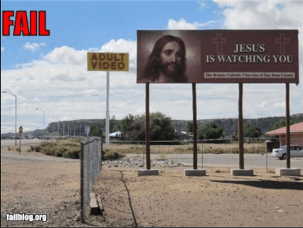 Property - FAIL JESUS IS WATCHING YOU ADULT VIDEO The fallblog.org