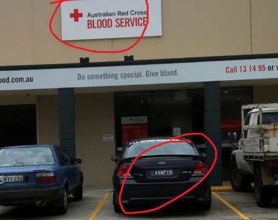 Vehicle - Australian Red Cross BLOOD SERVICE Call 13 14 95 orw pod.com.au Do something special. Give blood. EKY1 236 VAMPYR