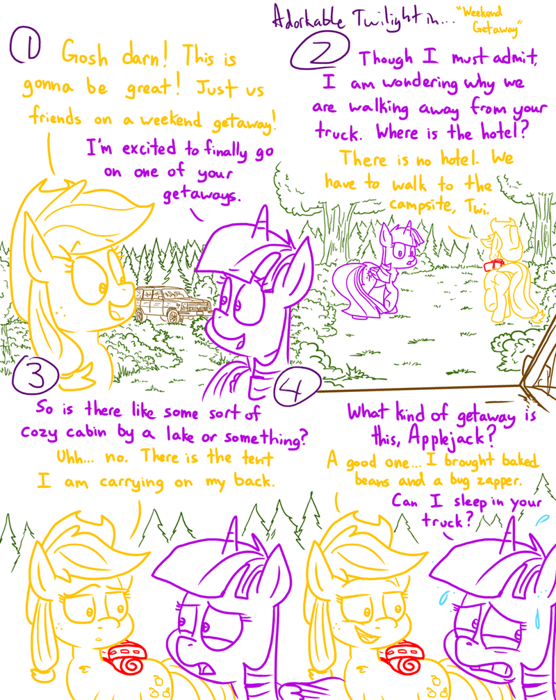 applejack twilight sparkle comic adorkable twilight and friends - 9128551424
