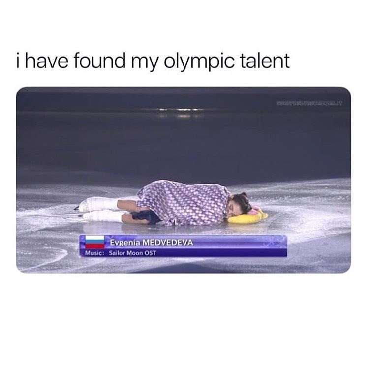 Funny meme about olympic napping.