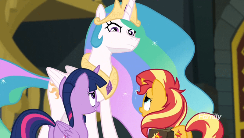 forgotten friendship twilight sparkle screencap princess celestia sunset shimmer - 9128730368