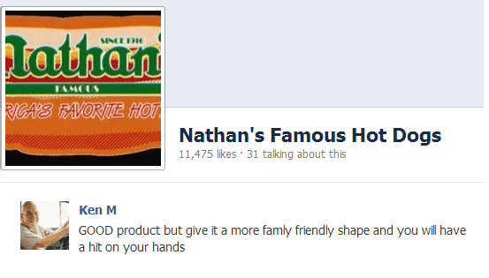 Font - lathan SINCE 1 AMCUS RICA'S TAVORITE HOT Nathan's Famous Hot Dogs 11,475 likes 31 talking about this GOOD product but give it a more famly friendly shape and you will have a hit on your hands