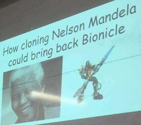 Funny meme about cloning nelson mandela.