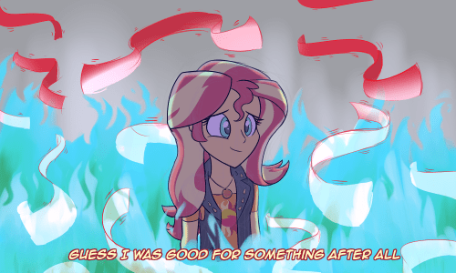 forgotten friendship equestria girls gravity falls sunset shimmer heir of rick - 9128907008