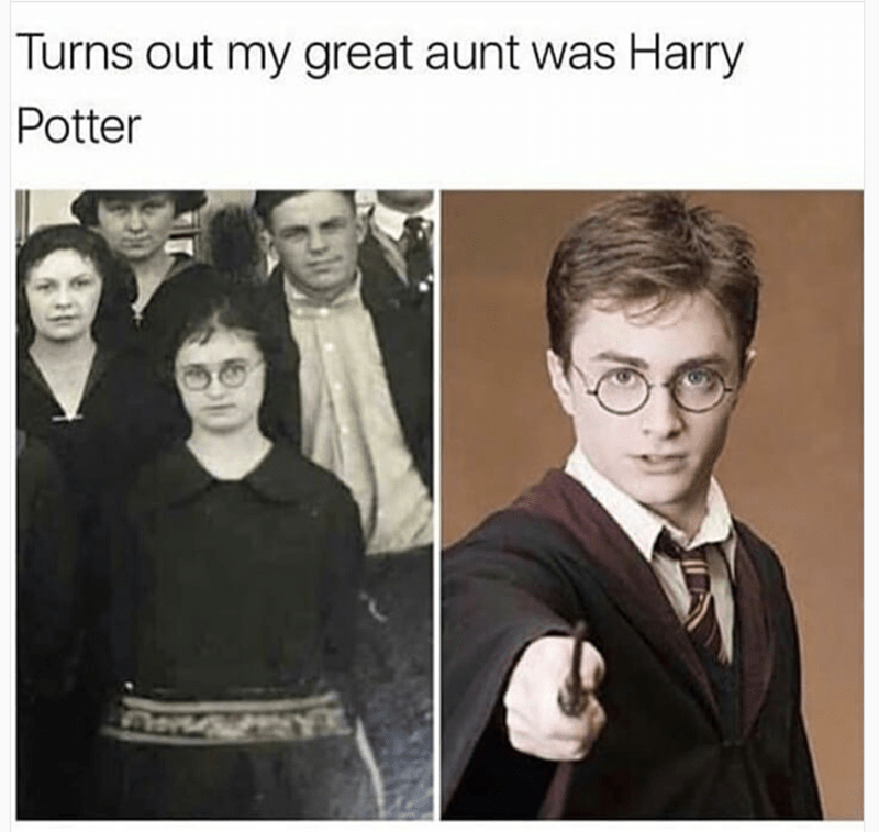 Photograph - Turns out my great aunt was Harry Potter
