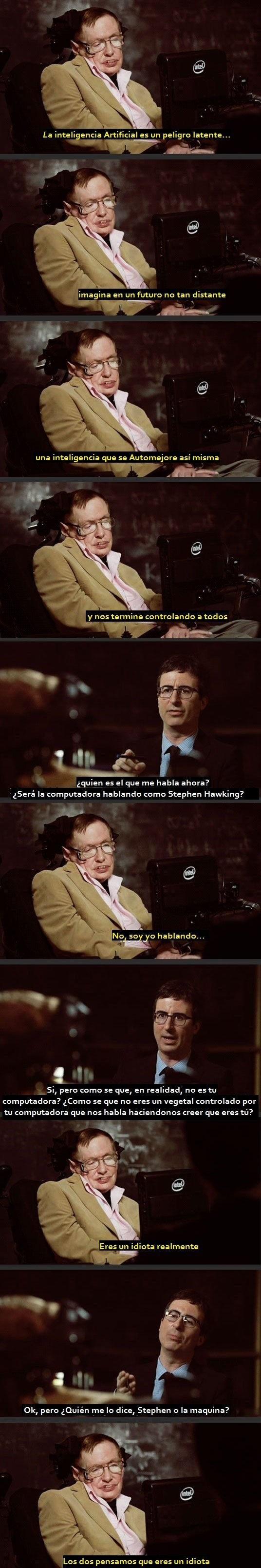 Stephen Hawking trollea a john oliver