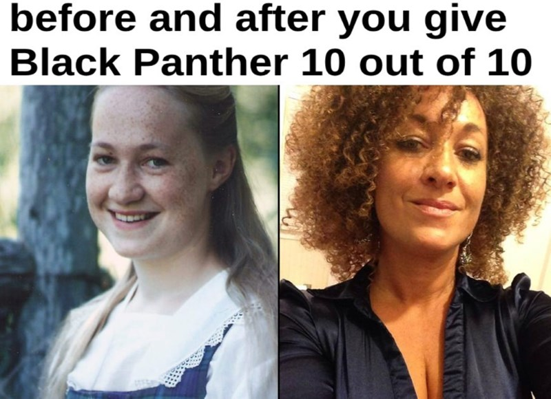 Hair - before and after you give Black Panther 10 out of 10