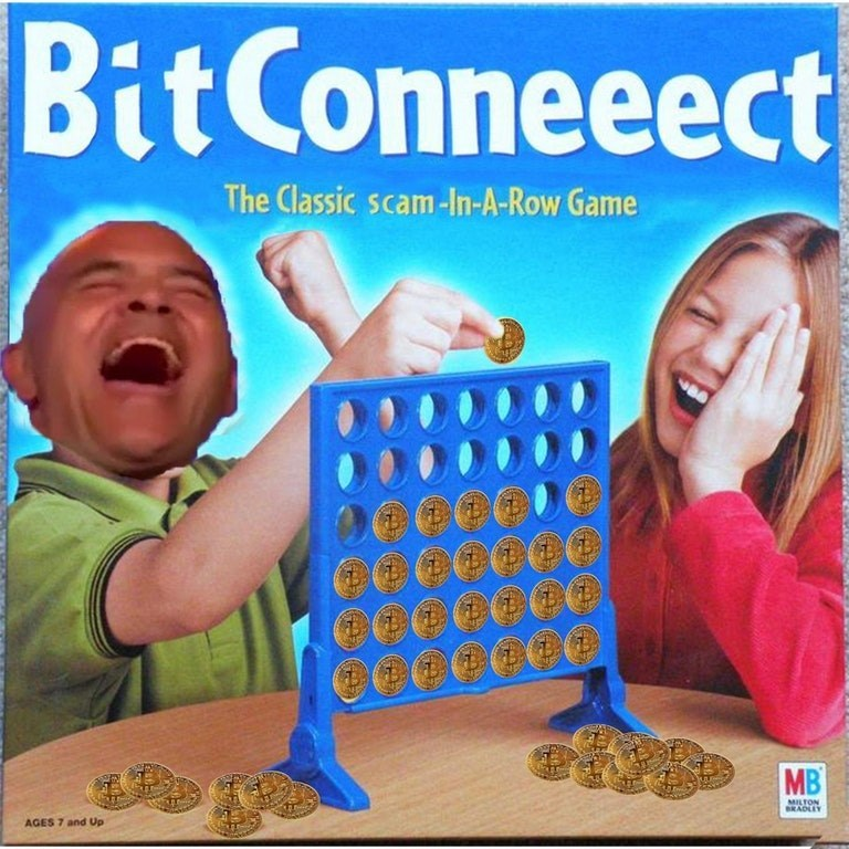dank meme - Games - BitConneeect The Classic scam-In-A-Row Game MB MILTON BRADLEY AGES 7 and Up