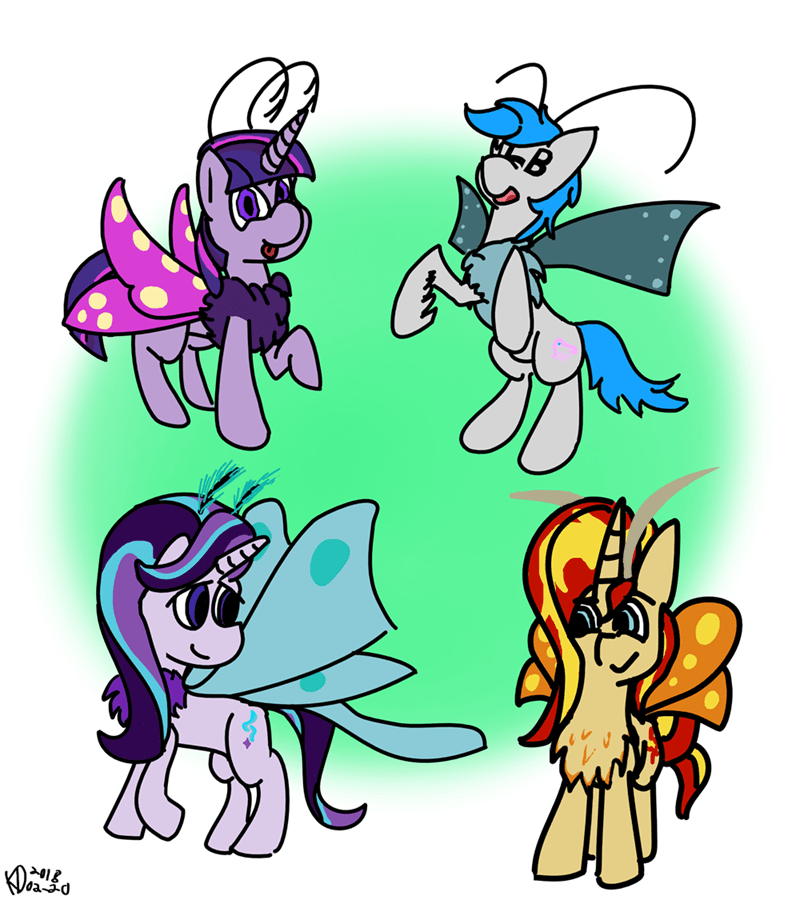 changeling collective starlight glimmer twilight sparkle moth pony sunset shimmer MLB kilodel - 9129839872