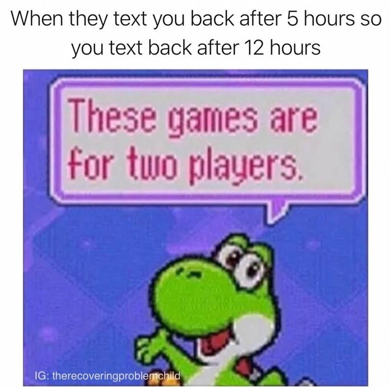 funny meme about two player game.