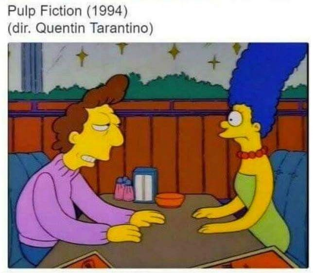 Cartoon - Pulp Fiction (1994) (dir. Quentin Tarantino)