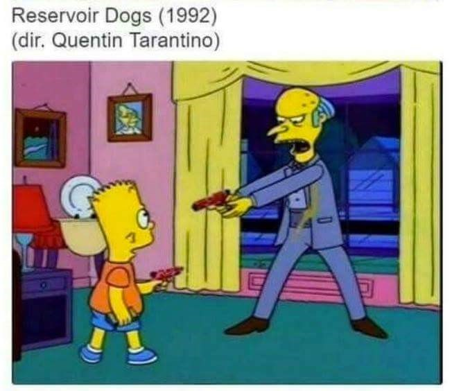 Cartoon - Reservoir Dogs (1992) (dir. Quentin Tarantino)